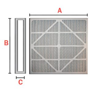 Turbo Pre-filter with pleated cotton media cardboard and AL frame