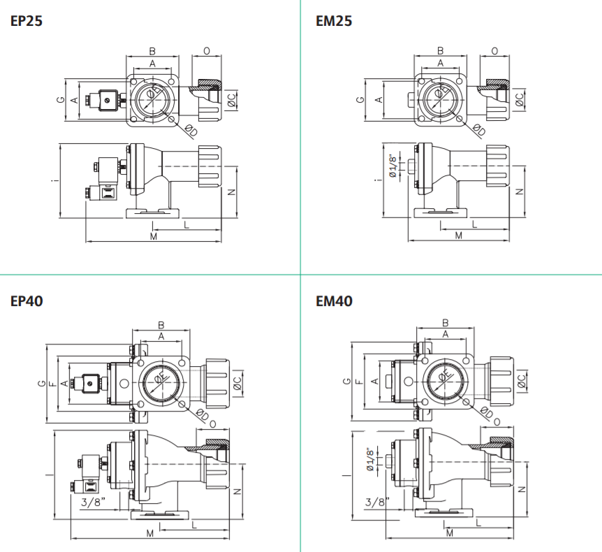B3 FLANGED PULSE VALVES E Series